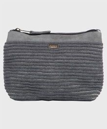 Pluchi Stylish Cotton With Leather Pouch - Grey