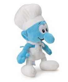 Smurfs Soft Toy Cook Smurf White Blue - 20 cm