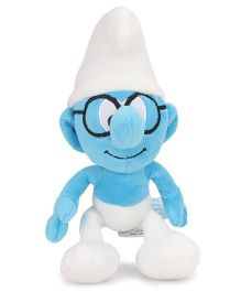 Smurfs Soft Toy Smurf With Glass White Blue - 20 cm