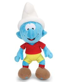 Smurfs Soft Toy Footballer Blue Red Yellow - 30 cm