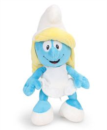 Smurfs Soft Toy Smurfette White Blue - 27 cm