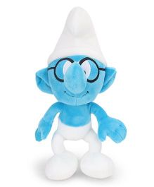 Smurfs Soft Toy Brainy Smurf - White Blue