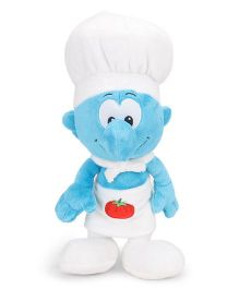 Smurfs Soft Toy Cook Smurf White Blue - 30cm