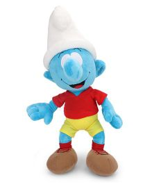Smurfs Soft Toy Football Smurf Red Yellow - 45 cm