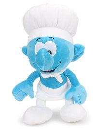 Smurfs Soft Toy Chef Smurf White Blue - 40 cm
