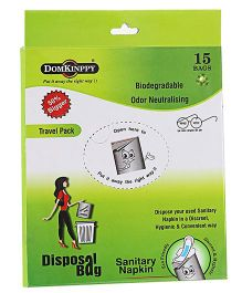 Domkinppy Sanitary Pad Disposal Bag - Pack Of 15