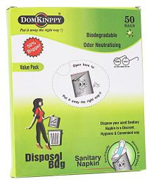 Domkinppy Sanitary Pad Disposal Bag - Pack Of 50