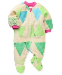 Pinehill Full Sleeves Footed Sleep Suit - Cream