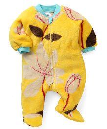 Pinehill Full Sleeves Footed Sleep Suit - Yellow