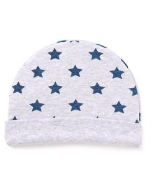 Ben Benny Round Bonnet Star Print Cap - Grey