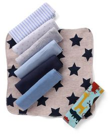 Ben Benny Multi Printed Wash Cloth Pack Of 8 - Multi Color
