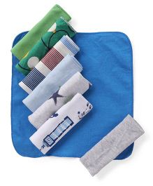 Ben Benny Wash Cloth Multi Print Pack Of 8 - Multicolor