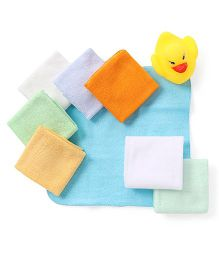 Ben Benny Multi Print Face Napkin Set Pack Of 8 - Multicolor
