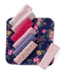 Ben Benny Printed Wash Cloth Pack Of 8 - Multicolor