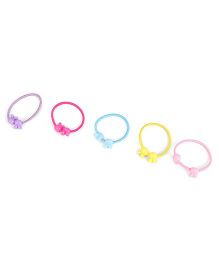 Glixie Hair Rubber Band Multicolor - Pack Of 5