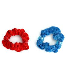 Glixie Velvet Wrap Rubber Band Pack Of 2 (Color May Vary)