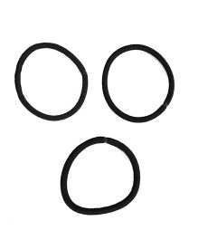 Glixie Hair Rubber Pack Of 3 - Black