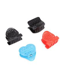 Glixie Hair Clutch Pack Of 4 (Color May Vary)