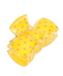 Glixie Hair Clutcher Polka Dots - Yellow