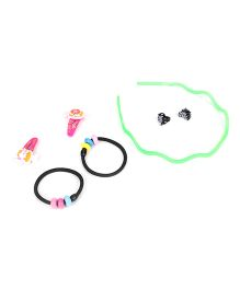 Glixie HairAccessories Set Pack Of 7 - Multicolor