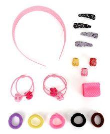 Glixie HairAccessories Set Pack Of 16 - Multicolor