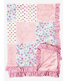 Abracadabra - Luxury Appliqued Blanket Pink