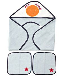 Abracadabra Hooded And Small Towel Pack of 3 - Blue