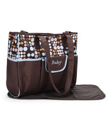 Mother Bag With Changing Mat - Brown