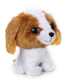Animal Planet Little kingdom Soft Toy Dog Brown & White - Height 10 Inches