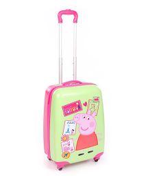Peppa Luggage Bag Green - 20 Inches