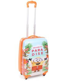 Minions Welcome To Paradise Luggage Bag Orange - 20 Inches