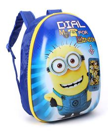 Minion  Dial M Printed Backpack - Blue