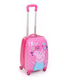 Peppa Pretty In Pink Luggage Bag - 16 Inches