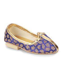 Ethniks Neu Ron Traditional Mojari Shoes - Blue