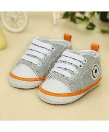 Wow Kiddos Canvas Soft Sole Prewalkers Sneaker - Grey