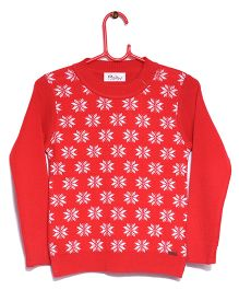 Rvk Star Design Pull Over - Red