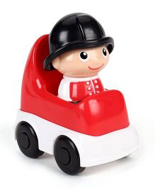 i-Builder Fire Man Figurine With Car - Red White