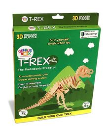 Genius Box T Rex The Prehistoric Predator 3D Wooden Puzzle - 29 Pieces