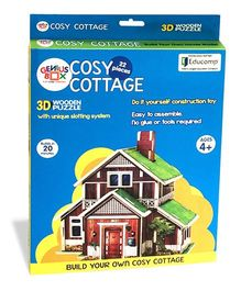 Genius Box Cosy Cottage 3D Wooden Puzzle - 22 Pieces