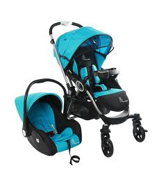 R for Rabbit Chocolate Ride Travel System - Blue Black