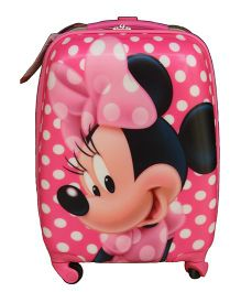 Disney Gamme Minnie Mouse Smile Luggage Bag Pink - 16 Inches