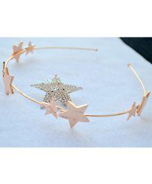 Pretty Ponytails Love For Stars & Diamond Clip & Hairband - Peach & Silver