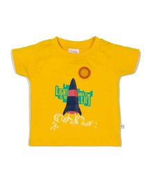 Solittle Half Sleeves Printed T-Shirt - Yellow