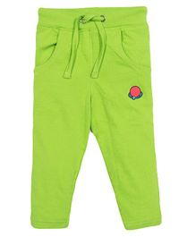 Solittle Full Length Lounge Pants Embroidery - Green