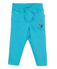 Solittle Full Length Lounge Pants Telescope Embroidery - Sky Blue