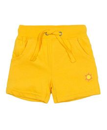 Solittle Shorts With Drawstring Sun Patch - Yelllow