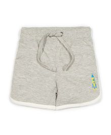 Solittle Drawstring Beach Shorts Rocket Embroidery - Grey