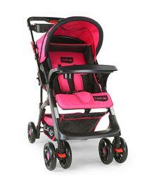 LuvLap Sports Stroller - Pink & Black