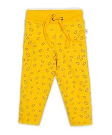 Solittle Full Length Drawstring Pant Allover Design - Yellow