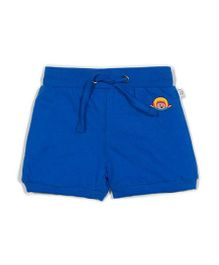 Solittle Drawstring Shorts Embroidered Design - Blue